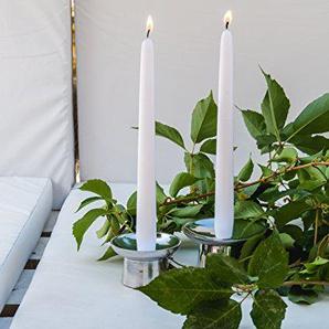 Set de bougeoirs en acier design italien by natuzzi Décoration maison table intérieur