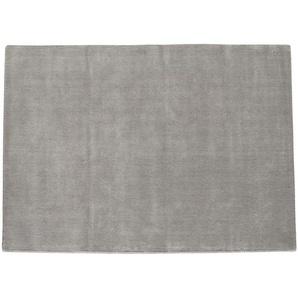 Tapis à poils courts en laine gris 250 x 350 cm SOFT
