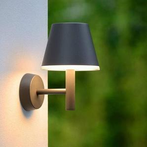JOSY-Applique LED dextérieur Aluminium H20,5cm Noir Lucide - designé par Lucide