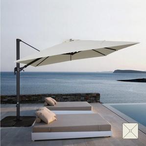 Parasol carré de jardin 3x3 bras aluminium bars hôtels VIENNA - ELIOS PARASOLS