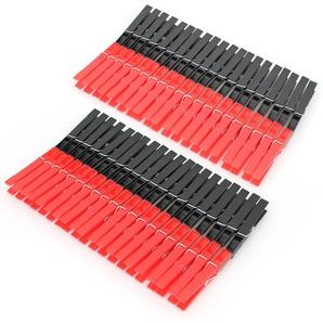Pinces à linge en plastique 2 lot de 40 pinces rouge et noir