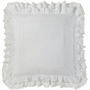 Coussin en coton blanc 60 x 60 cm CLÉMENCE