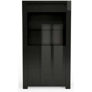 Vitrine 2 portes ORLANDO coloris noir