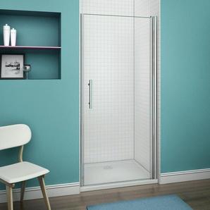 Porte pivotante 100x187cm porte de douche paroi de douche en niche verre anticalcaire - AICA SANITAIRE