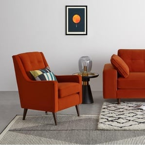 Content by Terence Conran Tobias 2 Seater Sofa, Textured Weave Teal with Light Legs