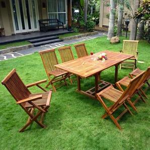 Salon de jardin en Teck huilé Lombok