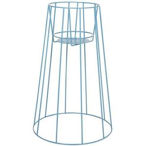 OK Design Support pour pot de fleurs Cibele L - bleu pigeon/revêtu par poudre/H 60cm/Ø 22cm/bas Ø 35cm/pour pots avec Ø 17-19cm