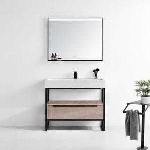 Meuble de salle de bain LAMEZIA 1000 Scandinave - DISTRIBAIN