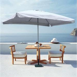 Parasol de jardin 3x2 aluminium rectangulaire mât centrale bar hôtel EDEN | avec volant - ELIOS PARASOLS