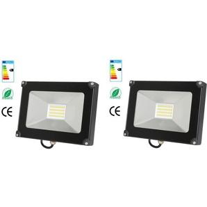 2×Anten 30W Projecteur LED Léger Spot LED Étanche IP65 Lampe Solide pour Extérieur et Intérieur Blanc Chaud 3000K Coque Noir