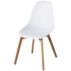 Chaise de jardin style scandinave blanche Lima