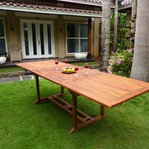 Table rectangulaire XXL en teck huilé 12 places : Borneo