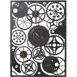 4 horloges rouages en métal noir 90x65