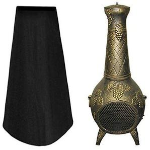78Henstridge Housse de Protection imperméable pour cheminée dextérieur Noir 122 x 20,3 x 61 cm