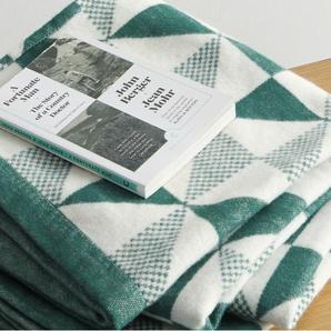 Sindal, plaid en coton tissé, 130 x 170 cm, vert d'eau
