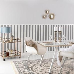 Tapis poil ras Nain Beige/Bleu 280x380 cm - Tapis poil court design moderne pour salon