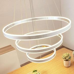 Suspension LED Lyani, 3 anneaux superposés