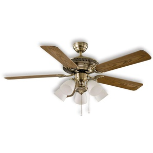 Centurion - Ventilateur de plafond, laiton antique