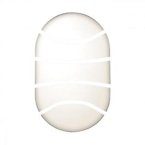 Hublot à grille ovale Chartres Origine standard noir fonction ON et OFF avec lampe fluo 1200lm (564706) - LEGRAND