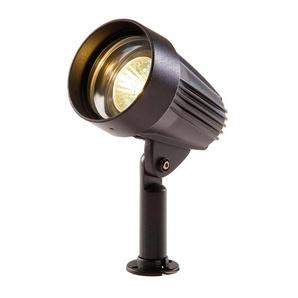 Spot projecteur à piquer ou visser CORVUS 5W GU5.3 MR16 IP44 Blanc Chaud Orientable éxterieur Garden lights ampoule fournie