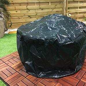 LIVIVO Housse de Protection Anti-UV imperméable pour Foyer de Jardin avec Cordon de Serrage Vert