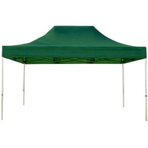 Tente pliante 3x4,5 m sans bâches de côté vert fonce PROFESSIONAL tente pliable ALU pavillon barnum - INTENT24.FR