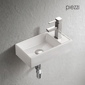 Lave-mains suspendu en céramique blanche - Manéo