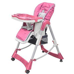 xinglieu Chaise haute Deluxe Rose Hauteur réglable fauteuil enfant chaises pour enfants