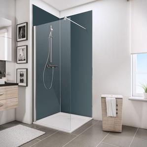 Lot de 2 panneaux muraux 90 x 210 cm, revêtement pour douche et salle de bains, Décodesign Couleur, Schulte, anthracite