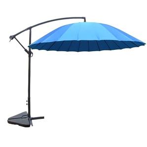 Shanghai bleu : parasol déporté et inclinable rond Ø3m