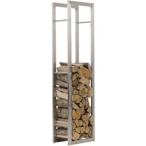 Porte-bois Keri acier 25x40x150 cm - CLP