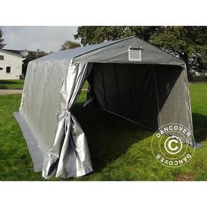 Tente Abri Voiture Garage Basic, 3,3x4,8x2,4m PE, Gris - DANCOVER