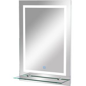 Miroir lumineux LED 38 W interrupteur tactile étagère intégrée 50L x 4l x 70H cm - HOMCOM