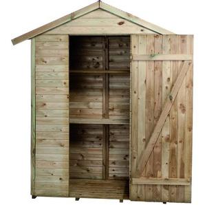 Madeira-Rangement- Grande Armoire de jardin -pin sylvestre-Remise pour outils-2 étagères- bois traité autoclave- toit en pente- L193x l 83xH.220 cm/1,05 m²- Léo - CERLAND