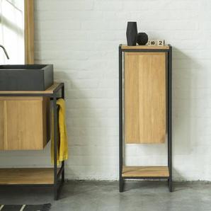 Elément bas modulable en métal et bois de teck 40 Michal