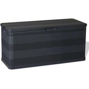 Boîte de rangement de jardin Noir 117x45x56 cm - VIDAXL