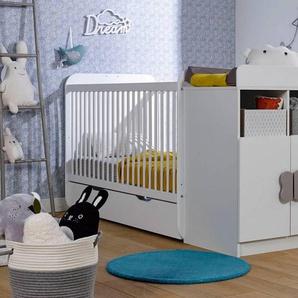 Chambrekids - SOFAMO Chambre bébé évolutive Madrid Blanc + Tiroir & Matelas