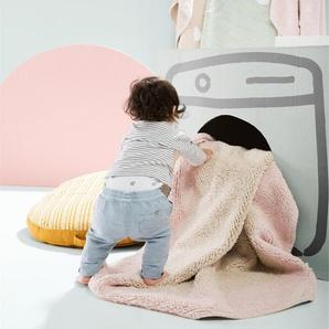 Lytte Tapis lavables pour enfants Inka Tricolore Vert clair 150x150 cm - Tapis pour chambre denfants/bébé