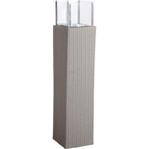 Photophore dextérieur gris en résine et verre Hauteur 139 cm Hauteur 139 cm - AUBRY GASPARD