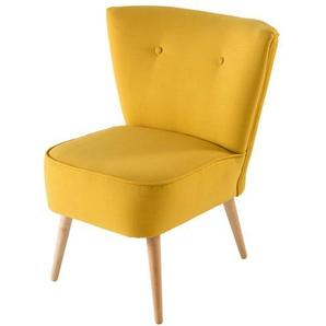 Fauteuil vintage jaune Scandinave