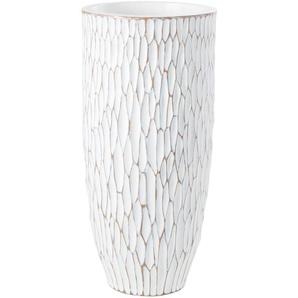 Vase blanc à reliefs H70