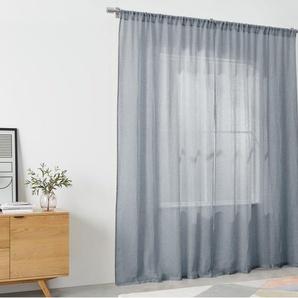 Linen, paire de rideaux en chambray 140 x 260 cm, bleu nuit