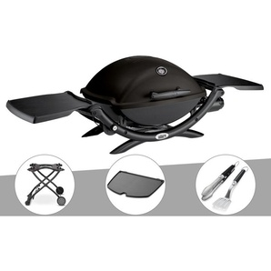 Barbecue à gaz Weber Q 2200 + Chariot + Plancha + Kit Ustensile