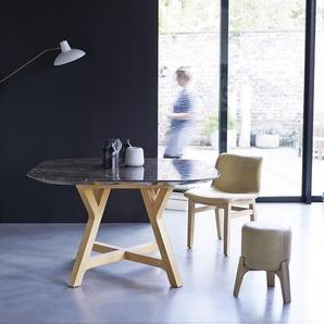 Table Stoneleaf en bois de chêne et marbre 130