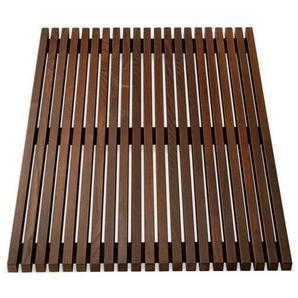 Decor Walther Wood WO BME 4060 - Natte de bain - brun foncé/LxPxH 60x40x3,5cm/frêne thermo