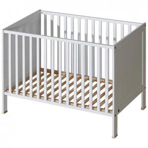 Lit bébé à barreaux Mélodie - Blanc