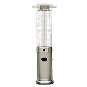 Chauffage de terrasse gaz Parasol chauffant 11kW - QLIMA - Inox