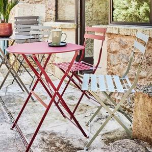 Chaise de jardin pliante rouge sumac