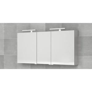 Bruynzeel armoire miroir 160x70cm avec 3 portes sans lumière aluminium 232410