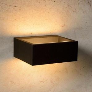GOA-Applique dextérieur LED Aluminium L15cm Noir Lucide
